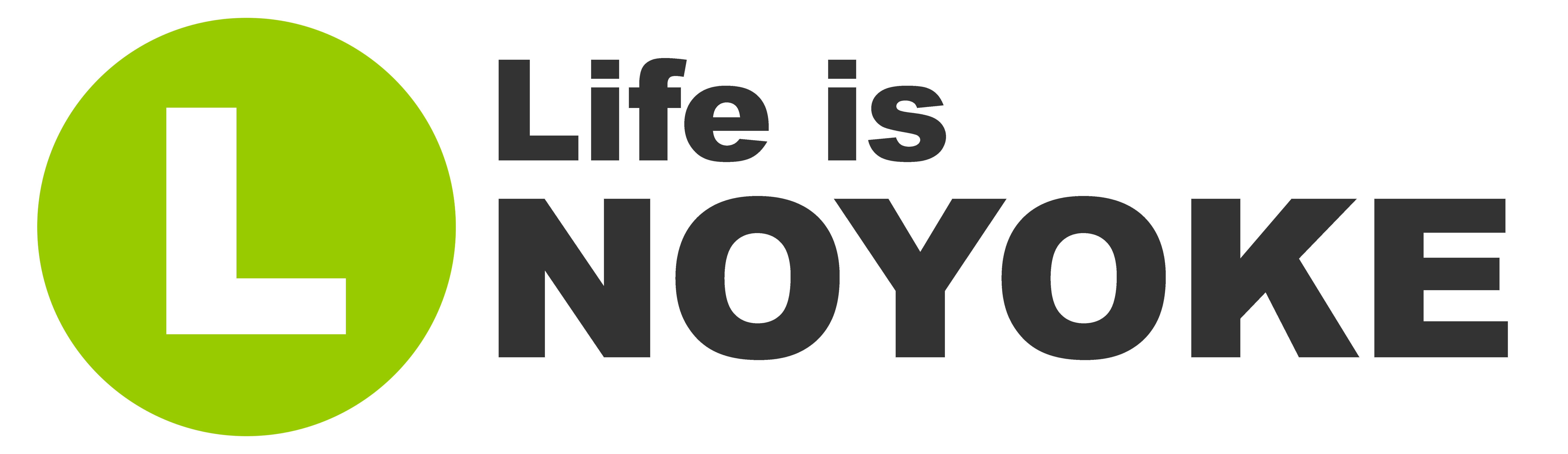 Life is NOYOKE logo with L green circle