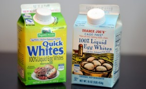 Two pints of Liquid pasteurized egg whites for the smart smoothie diet.