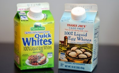 Two pints of Liquid pasteurized egg whites one quick whites one trader joes brand cage free