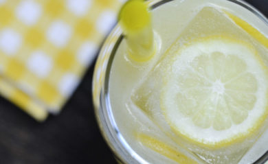 Lemonade made in our Vitamix.