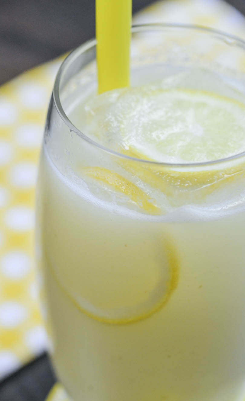 Classic lemonade made in our Vitamix.