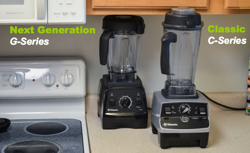 Next Generation G-Series and Classic C-Series Vitamix under cabinets