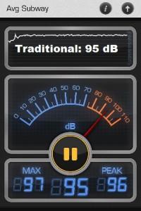 Vitamix Pro 300 decibels meter.