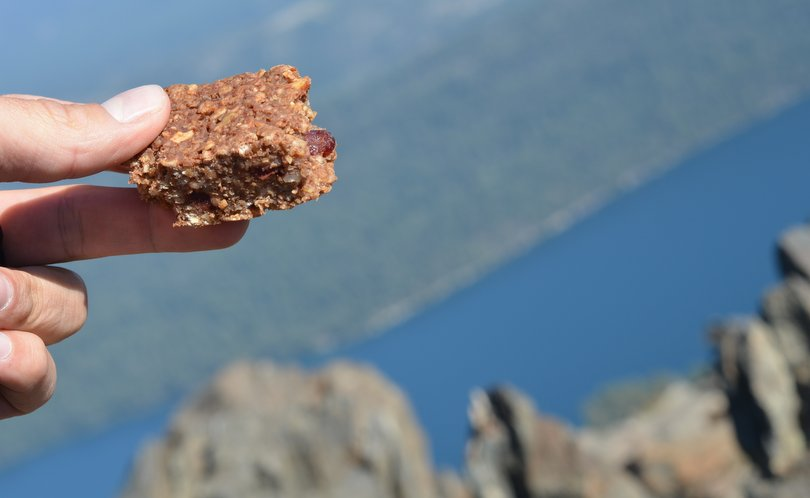 Homemade granola bar Mt Tallac Summit