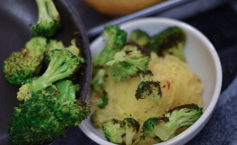 adding broccoli for spaghetti squash spaghetti