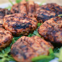 Buffalo Turkey Burgers Served