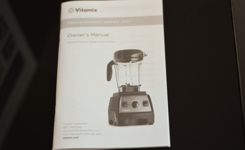 Picture of Vitamix Pro 300 operating manual