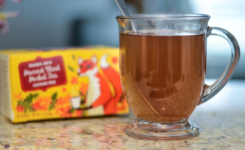 Harvest Blend Herbal Tea served