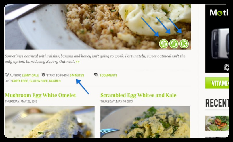 Recipe Category Template Screenshot from life is noyoke website redesign 2013