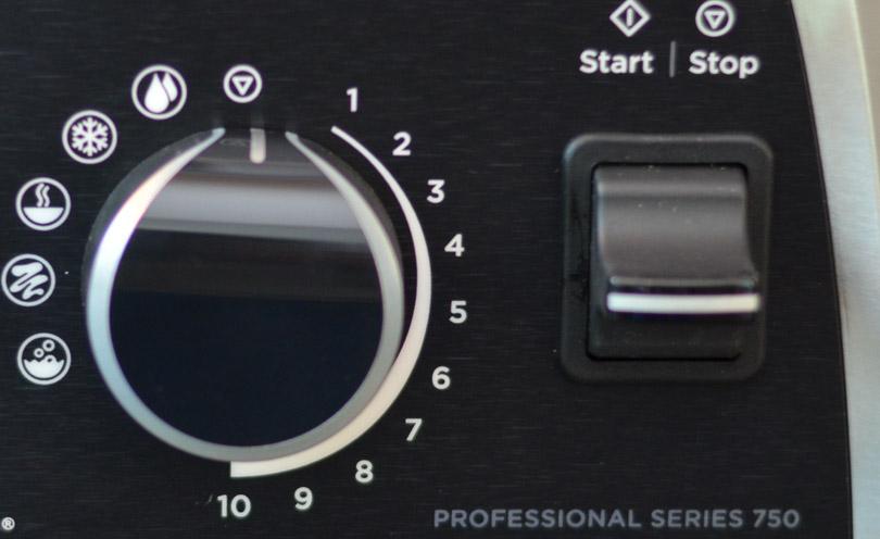 Vitamix Pro 750 Control Dial Closeup
