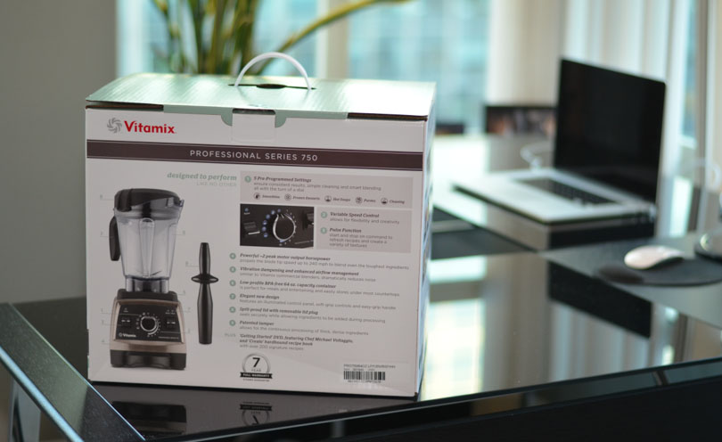 Vitamix Pro 750 box back