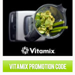 Vitamix promotion code button sidebar