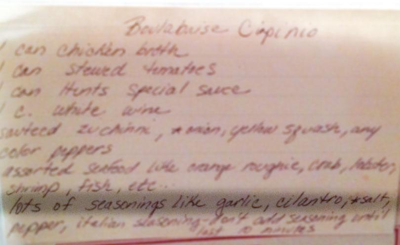 Robin Gale Cioppino Recipe