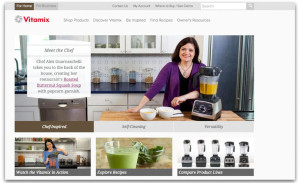 Screen shot of Vitamix website. Directly from Vitamix is a good choice for where to buy