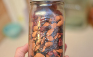 Trail mix in a Mason Jar