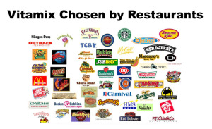 Logos of restaurants that choose Vitamix.