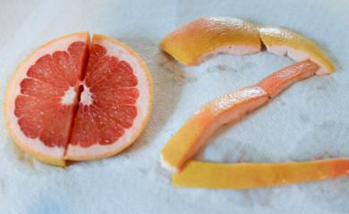 Dr. Oz made with grapefruit slices.