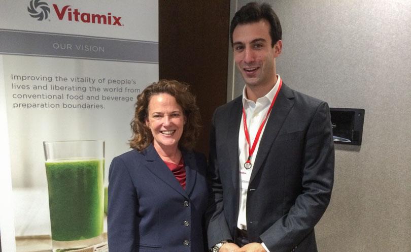 Jodi Berg and Lenny Gale at Vitamix headquarters.