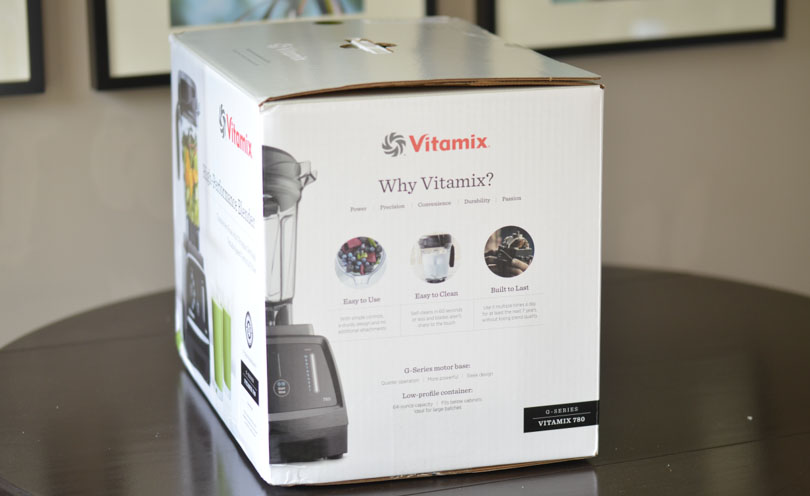 Side of the Vitamix 780 box.
