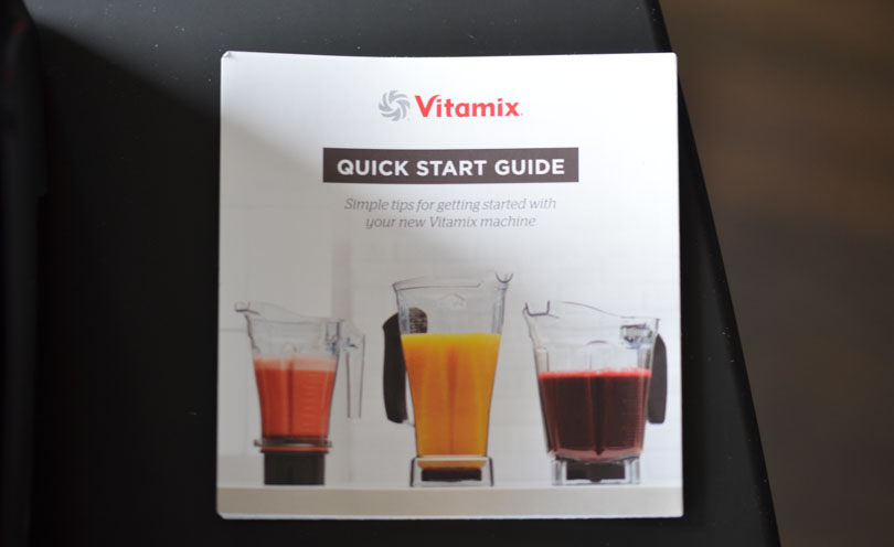 The Quick Start Guide that comes with the Vitamix 780.