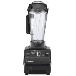 A reconditioned Vitamix Pro 500 in front of a white background.