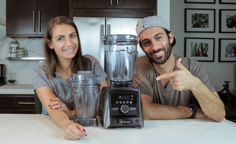 Shalva and Lenny gale of Life is NOYOKE with a Vitamix A3500 and 48 oz container.