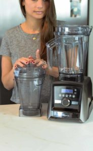 Shalva and her Vitamix a3500 and 48 ounce wet container