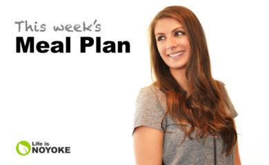 Shalva's Life is NOYOKE weekly meal plan.