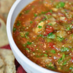Zvi's smoky salsa featured with tortilla chips.