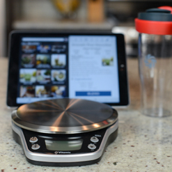 Vitamix Perfect Blend Scale and Interactive Recipe App with ipad.