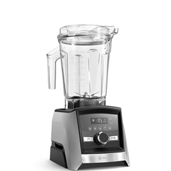 Vitamix Ascent 3500 in front of white background.