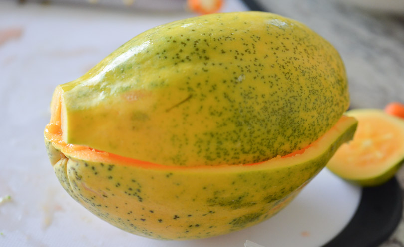 Papaya up close.