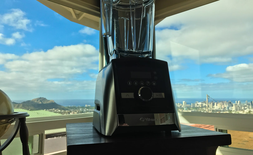 Vitamix A3500 with Honolulu in the background.