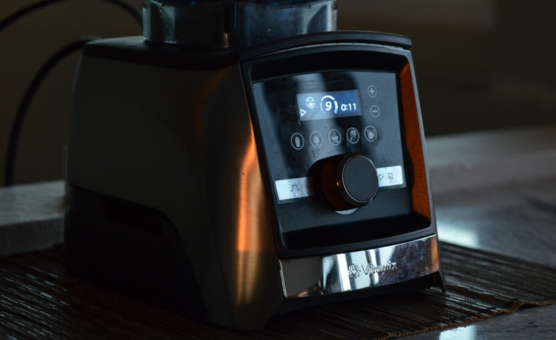 Vitamix A3500 with sunset reflections.
