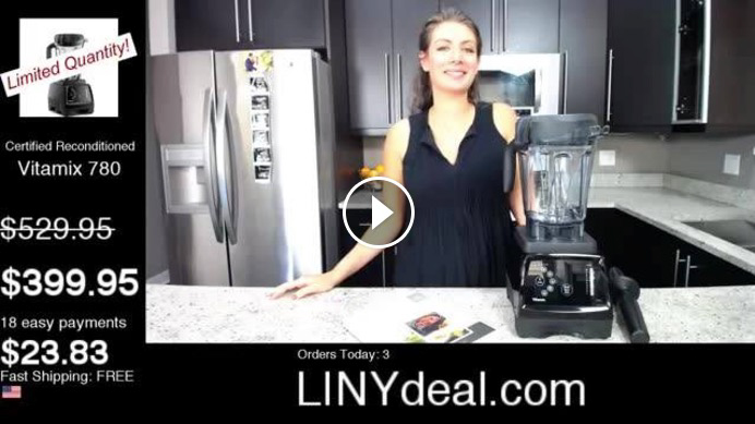 Shalva showcasing the Vitamix 780 deal.