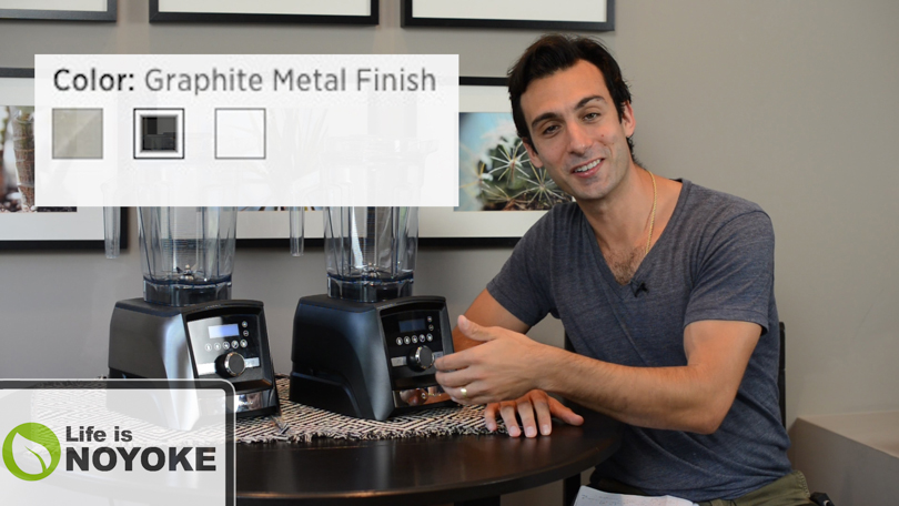 Lenny discussing the Vitamix with Graphite Metal Finish.
