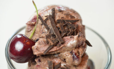 Black forest ice cream made in our Vitamix