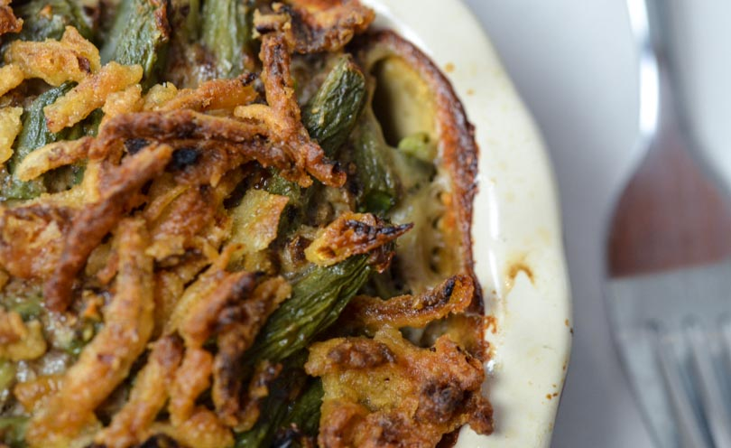 Green bean casserole made in our Vitamix.