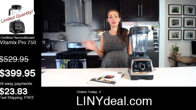 Shalva discussing the Vitamix pro 750 deal in August 2017.