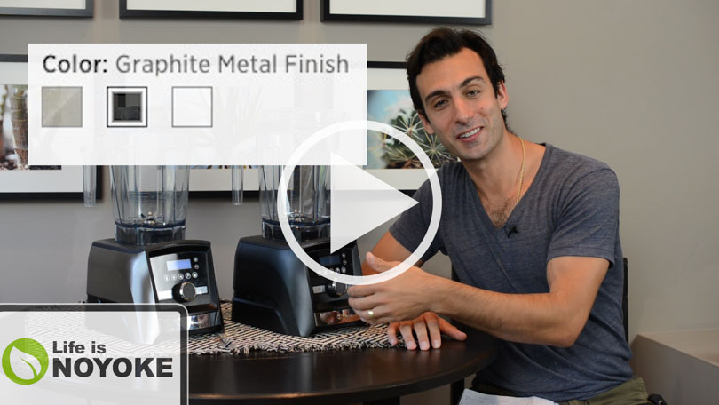 YouTube thumb of Lenny discussing the Vitamix with Graphite Metal Finish.