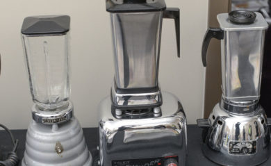 Three old Vitamix machines that people have taken care to prolong their life.