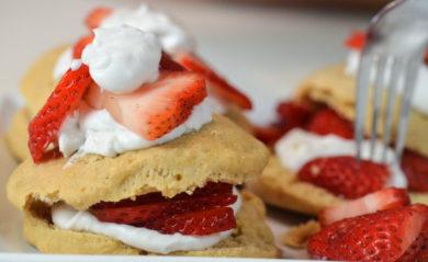 A vegan strawberry shortcake by Life is NOYOKE.