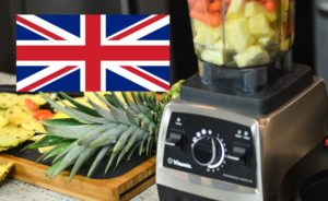 UK flag over Vitamix Pro 750.
