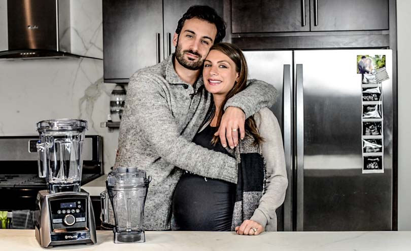 Lenny and Shalva Gale for Life is NOYOKE with their Vitamix A3500 and 48 oz secondary container.