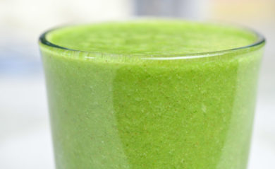 Green juice made in a Vitamix featured by Life is NOYOKE.