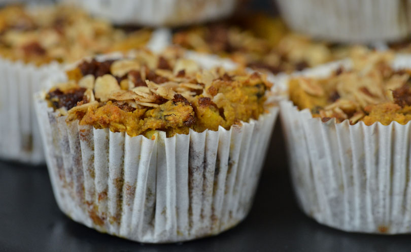 Vegan Vitamix sweet potato muffins featured by Life is NOYOKE.