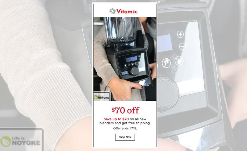 Vitamix holiday sale 2017 from Life is NOYOKE 70 off new blenders.