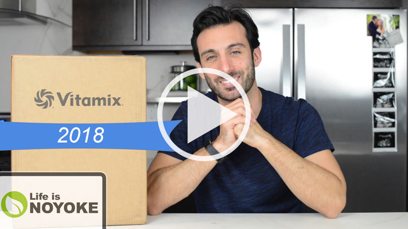 YouTube video thumbnail of Lenny Gale of Life is NOYOKE explaining which Vitamix to buy in 2018.