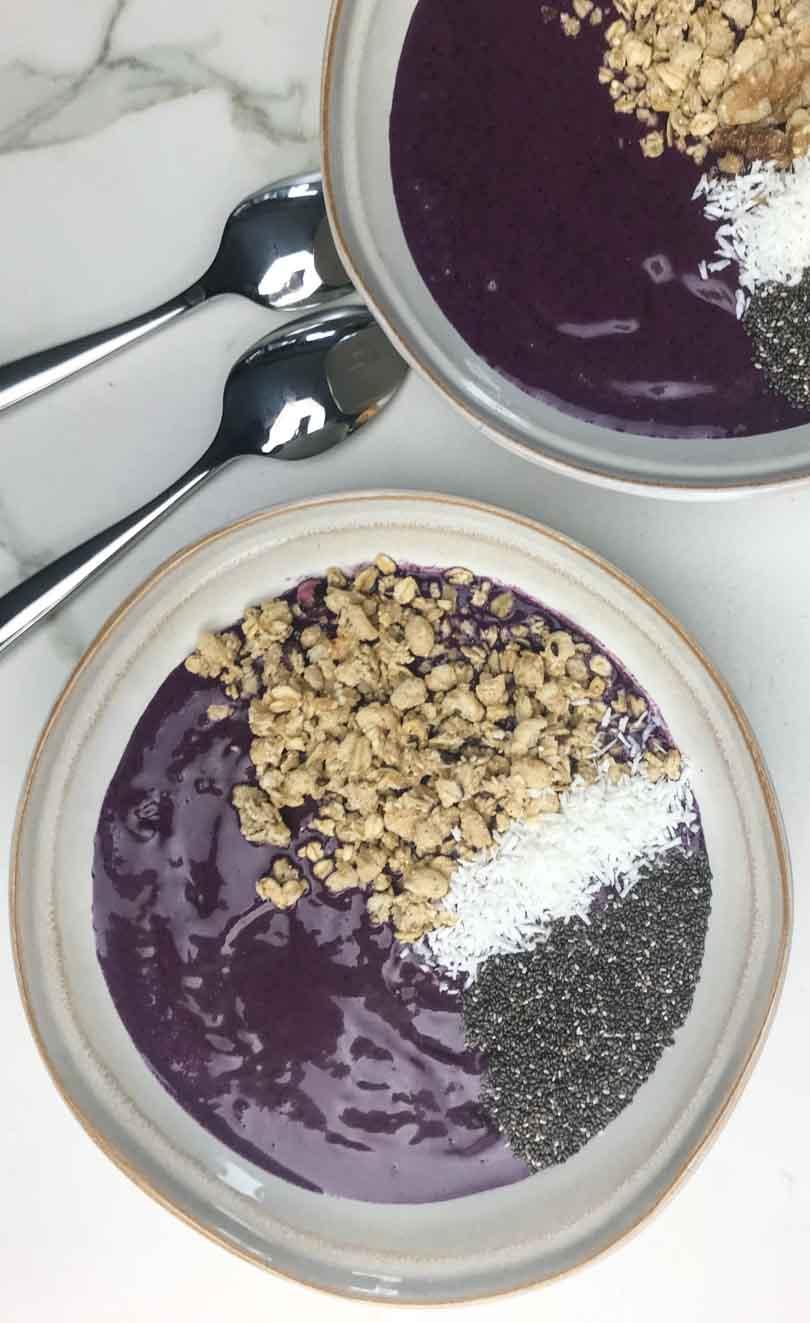 PB&J smoothie bowls
