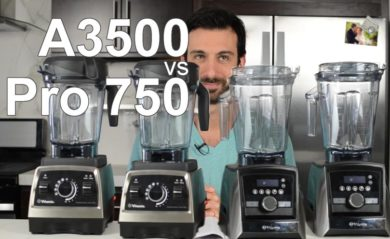 Lenny Gale showing Vitamix pro 750 vs A3500.